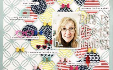 Clique Kits Blog Hop | This Is Me A Scrapbook Layout