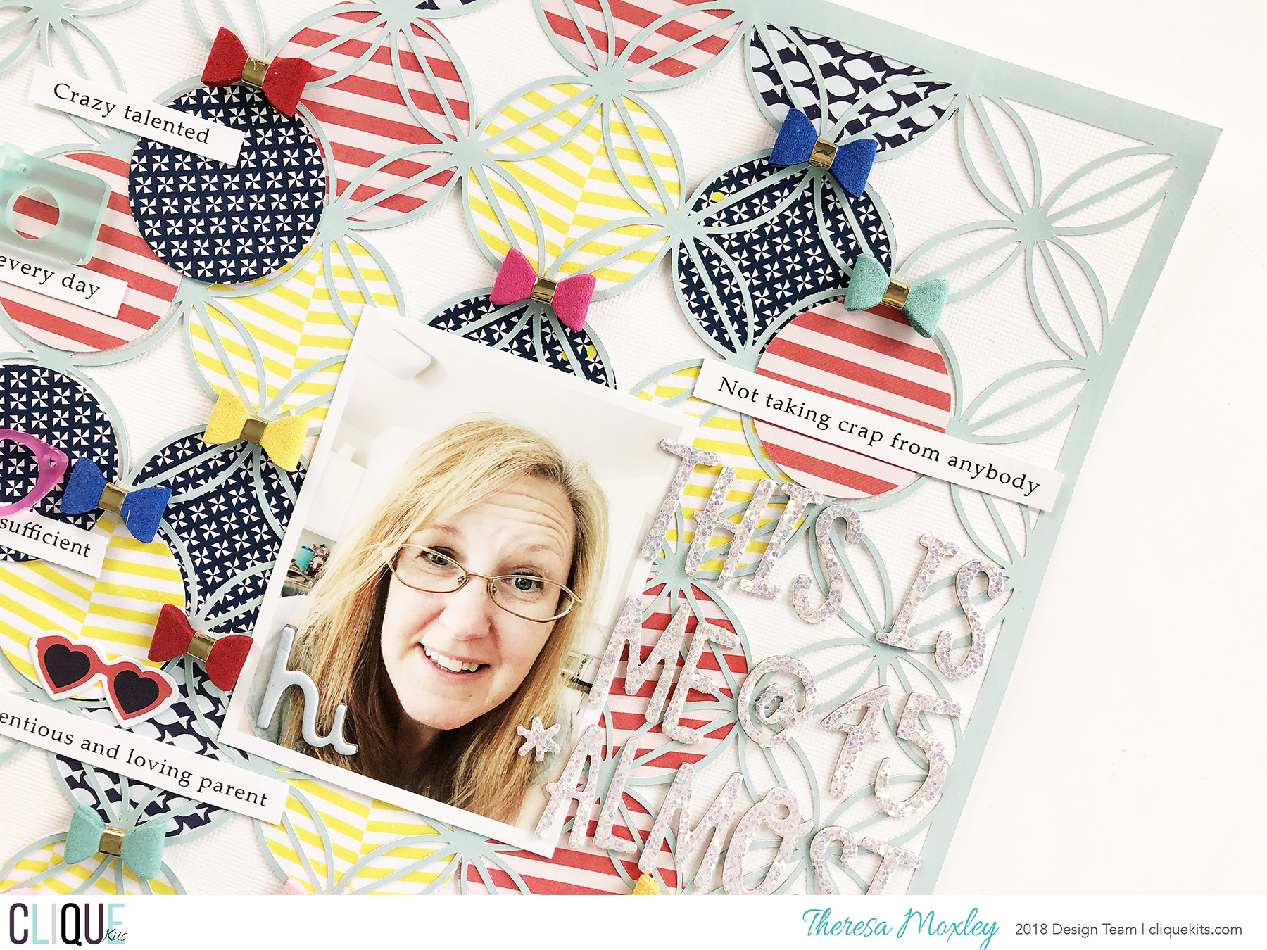 Clique Kits July Blog Hop | This Is Me Scrapbook Layout