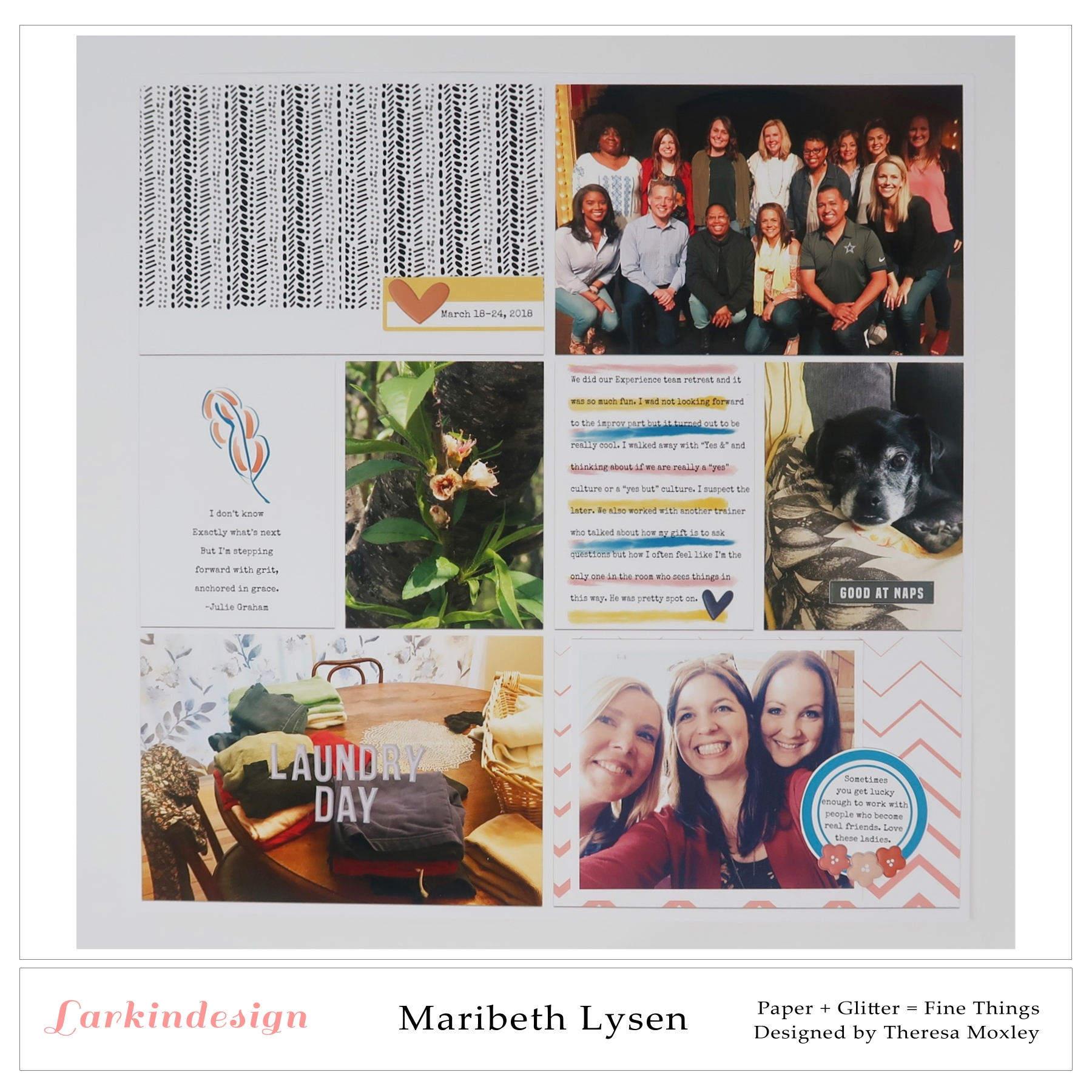 Larkindesign Creative Team Maribeth Lysen | Life In Full Bloom Pocket Page Kit