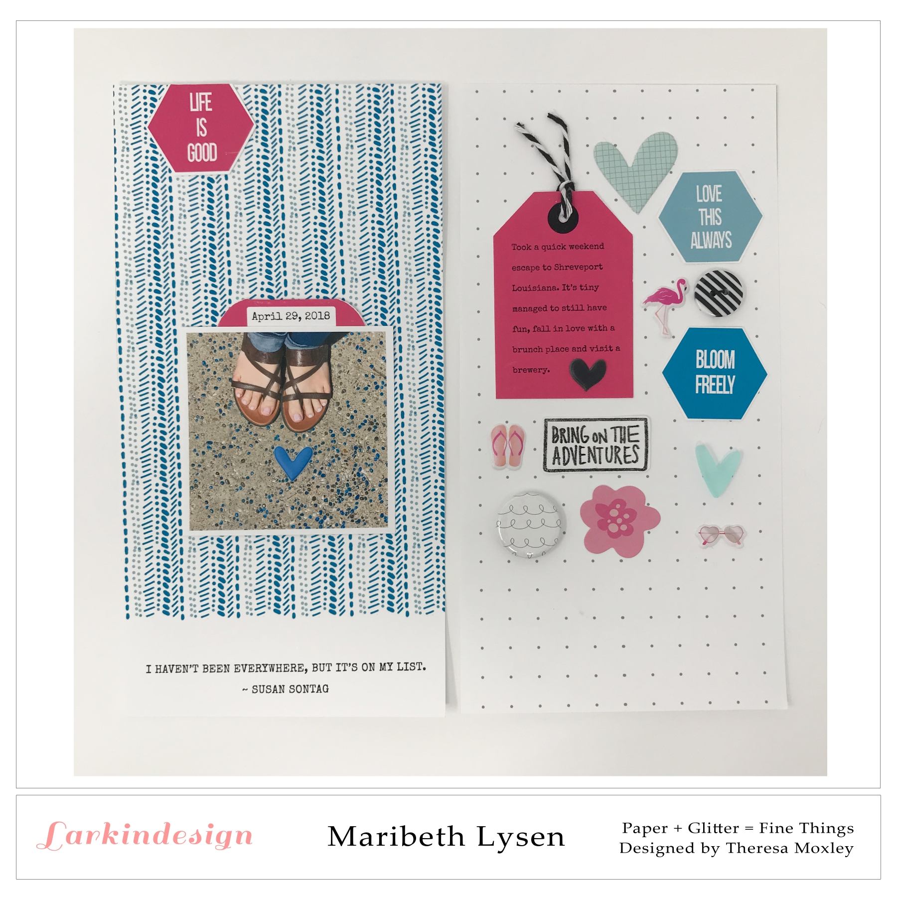 Larkindesign Creative Team Maribeth Lysen | Life In Full Bloom Travelers Notebook Kit