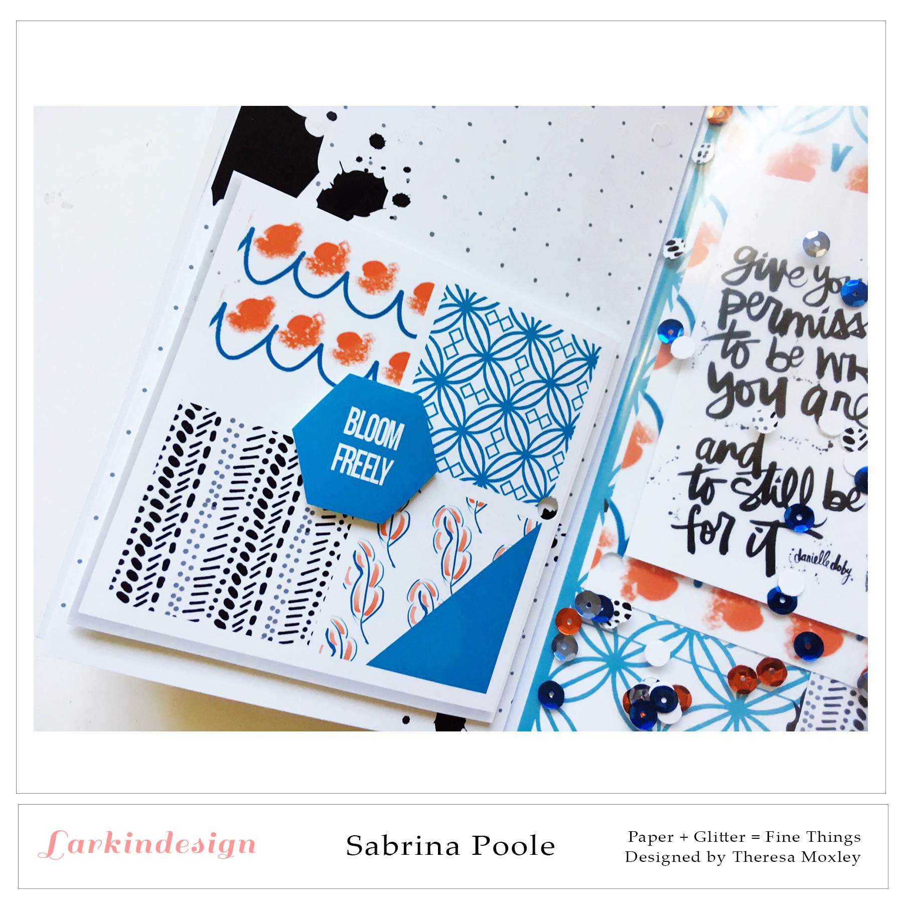 Larkindesign Creative Team Sabrina Poole | Life In Full Bloom Travelers Notebook Kit