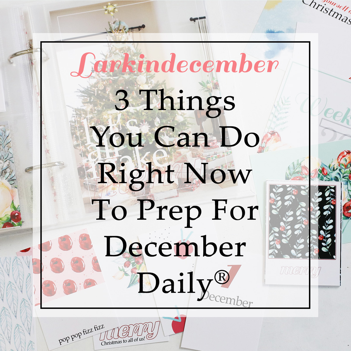 Three Things You Can Do Right Now To Prep For December Daily!