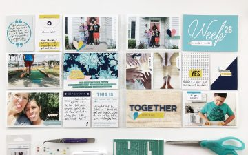 Project Life 2018 Week 26 | ft. Sahlin Studio Snapshot Photo Templates