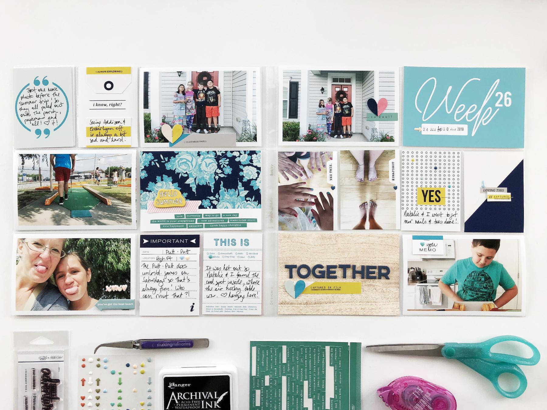 Project Life 2018 Week 26 | ft. Sahlin Studio Snapshot Photo Templates