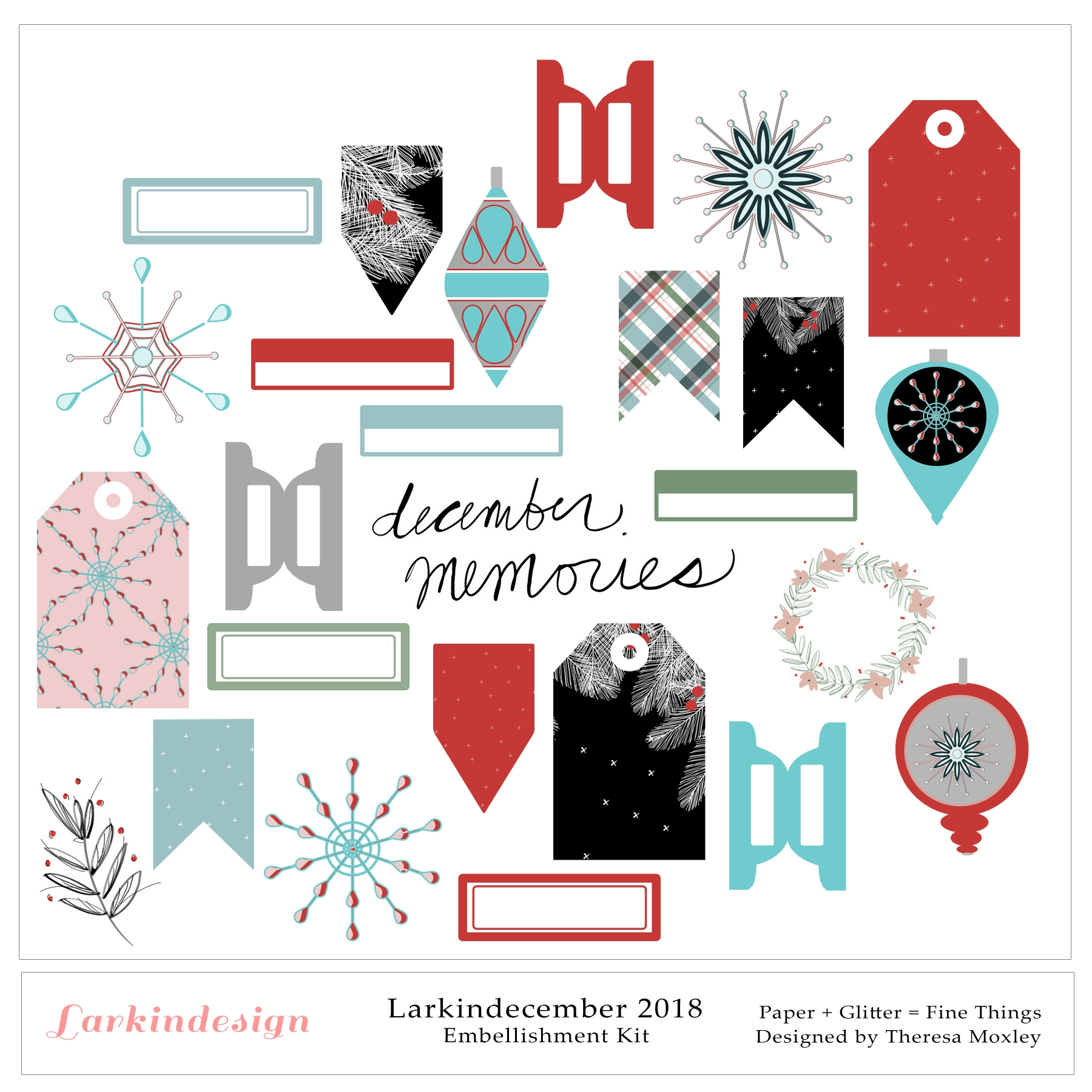 Larkindecember 2018 Embellishments