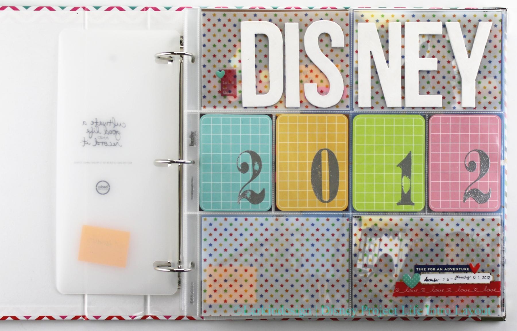 Larkindesign Disney Album Introduction Layout