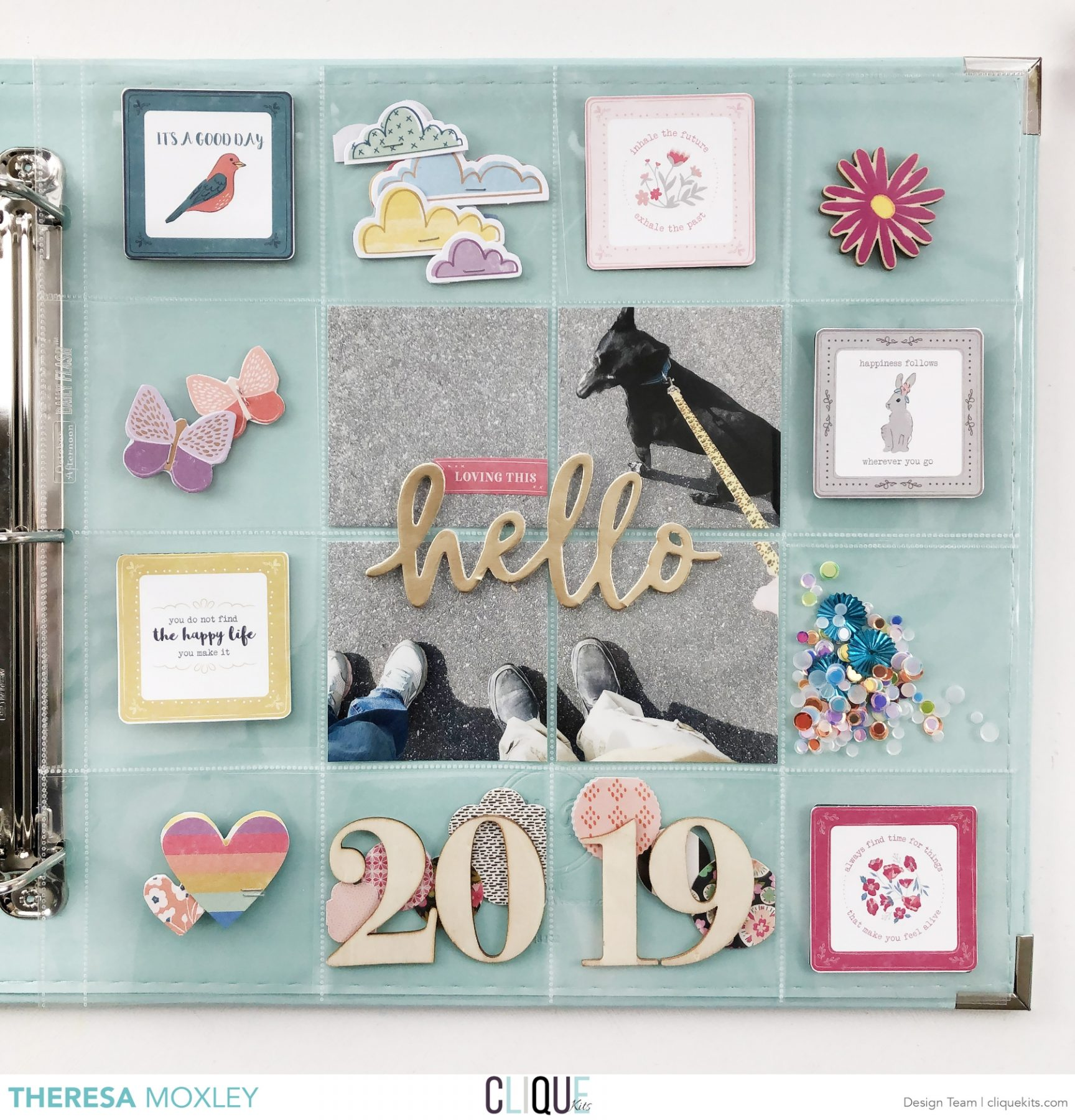 Larkindesign 2019 Project Life Album Introduction Layout