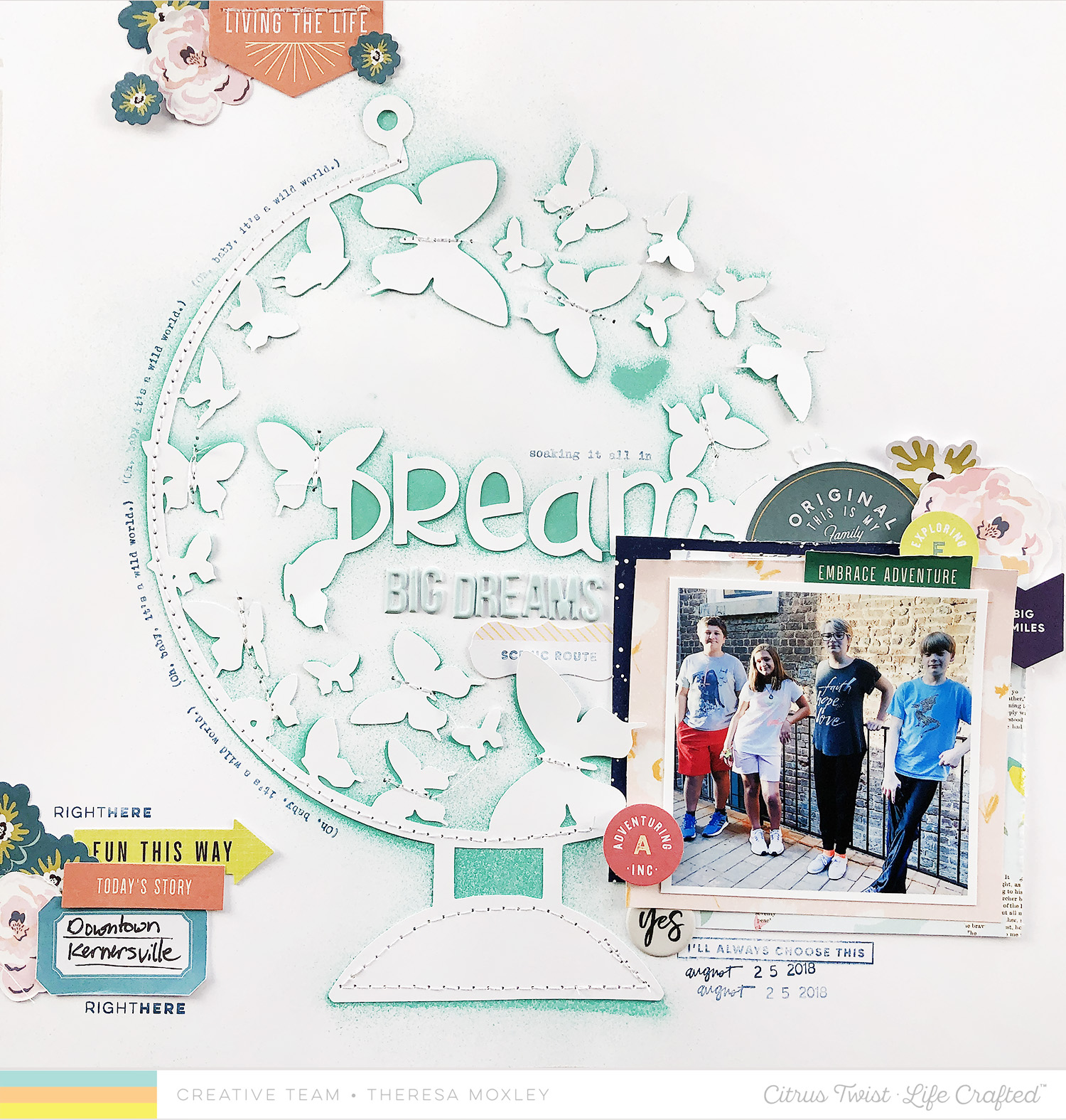 Larkindesign Blog Hop For Citrus Twist | Dream Big Dreams