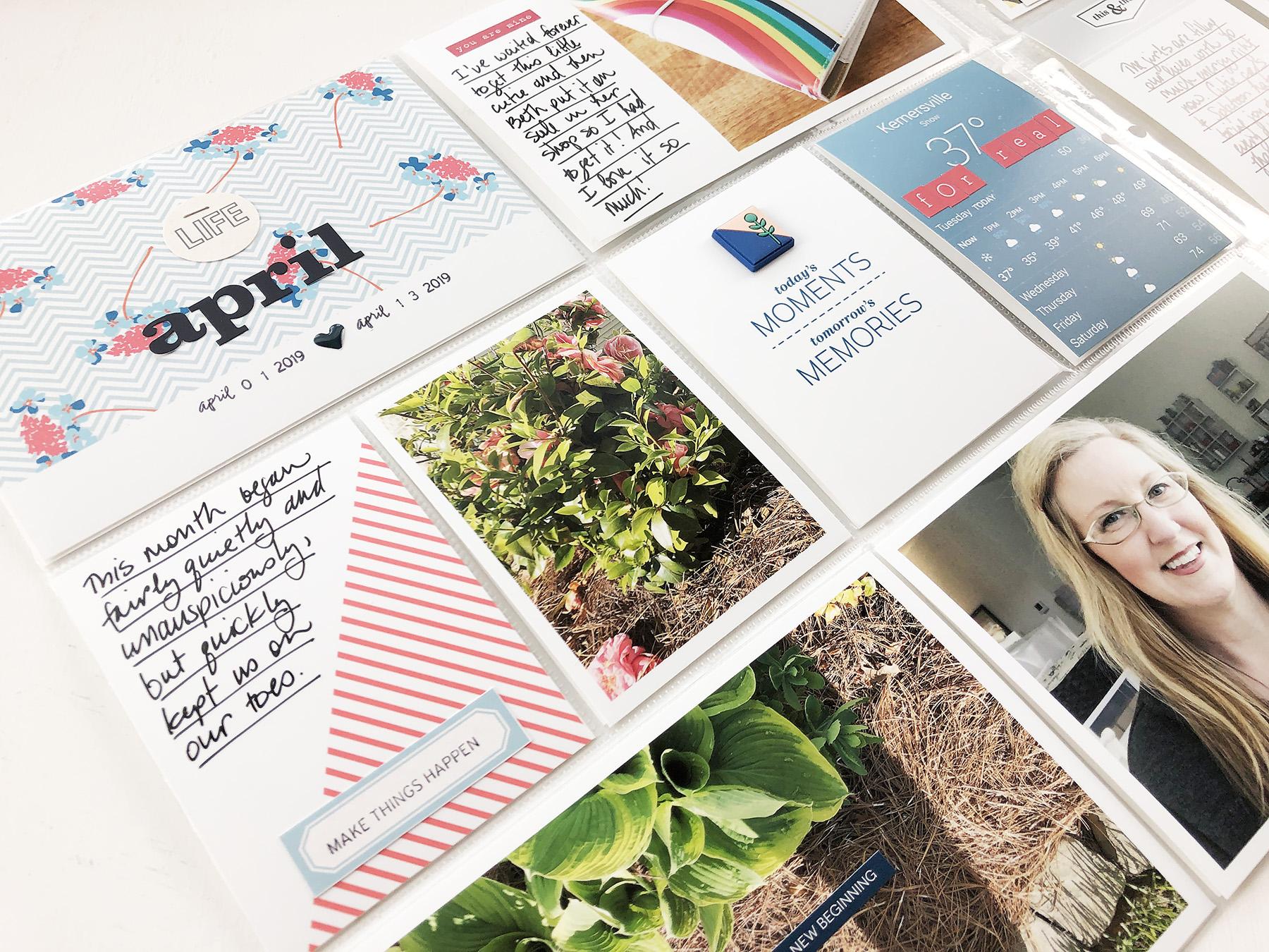 Larkindesign ***Sahlin Studio*** Design Team | 2019 Project Life Weeks 14 and 15