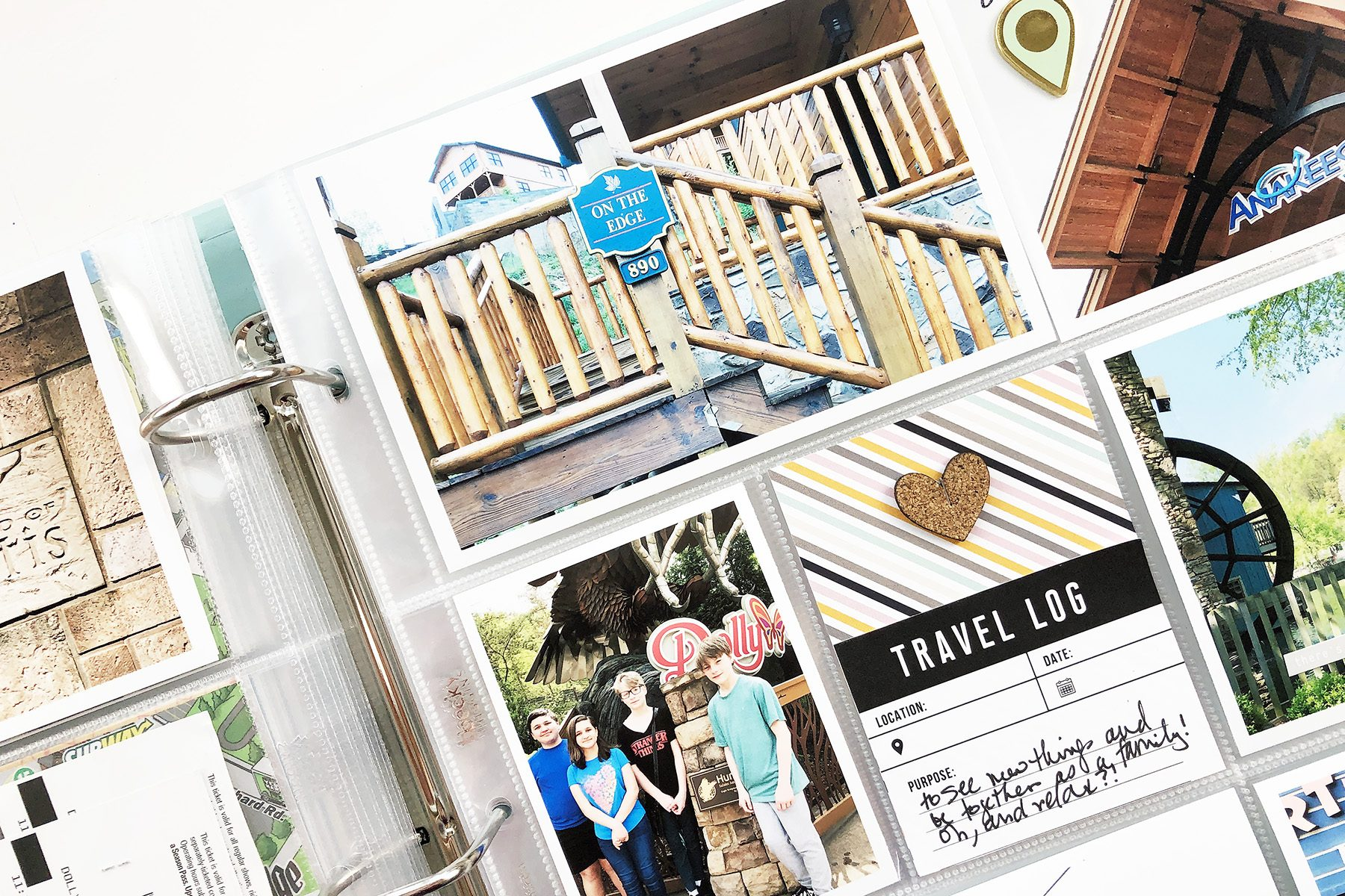 Larkindesign Documenting Travel in Project Life | Part 05 Gatlinburg Final Layout ft. Ali Edwards Travel Kit!!