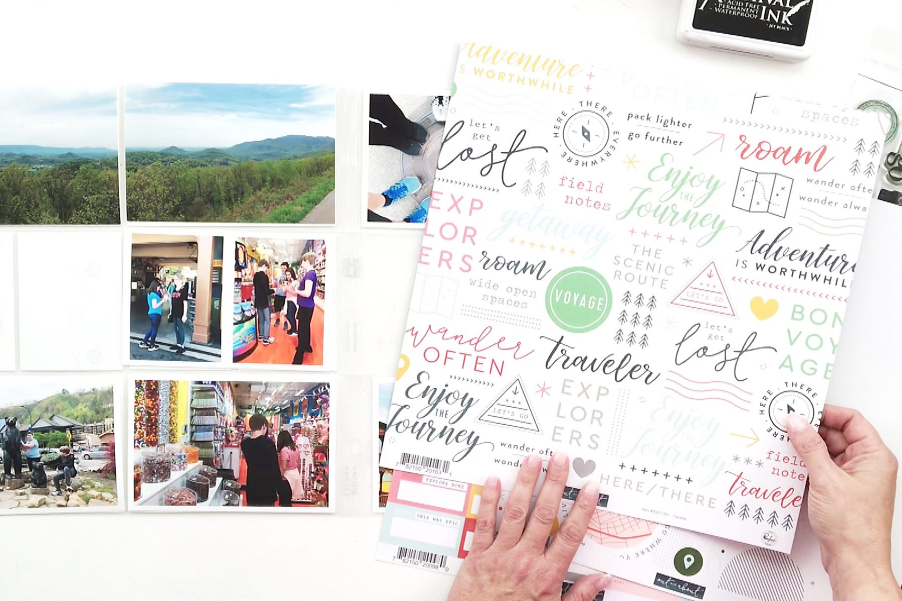 Larkindesign Using Traditional Product In Pocket Pages | Documenting Travel In Project Life Part 02