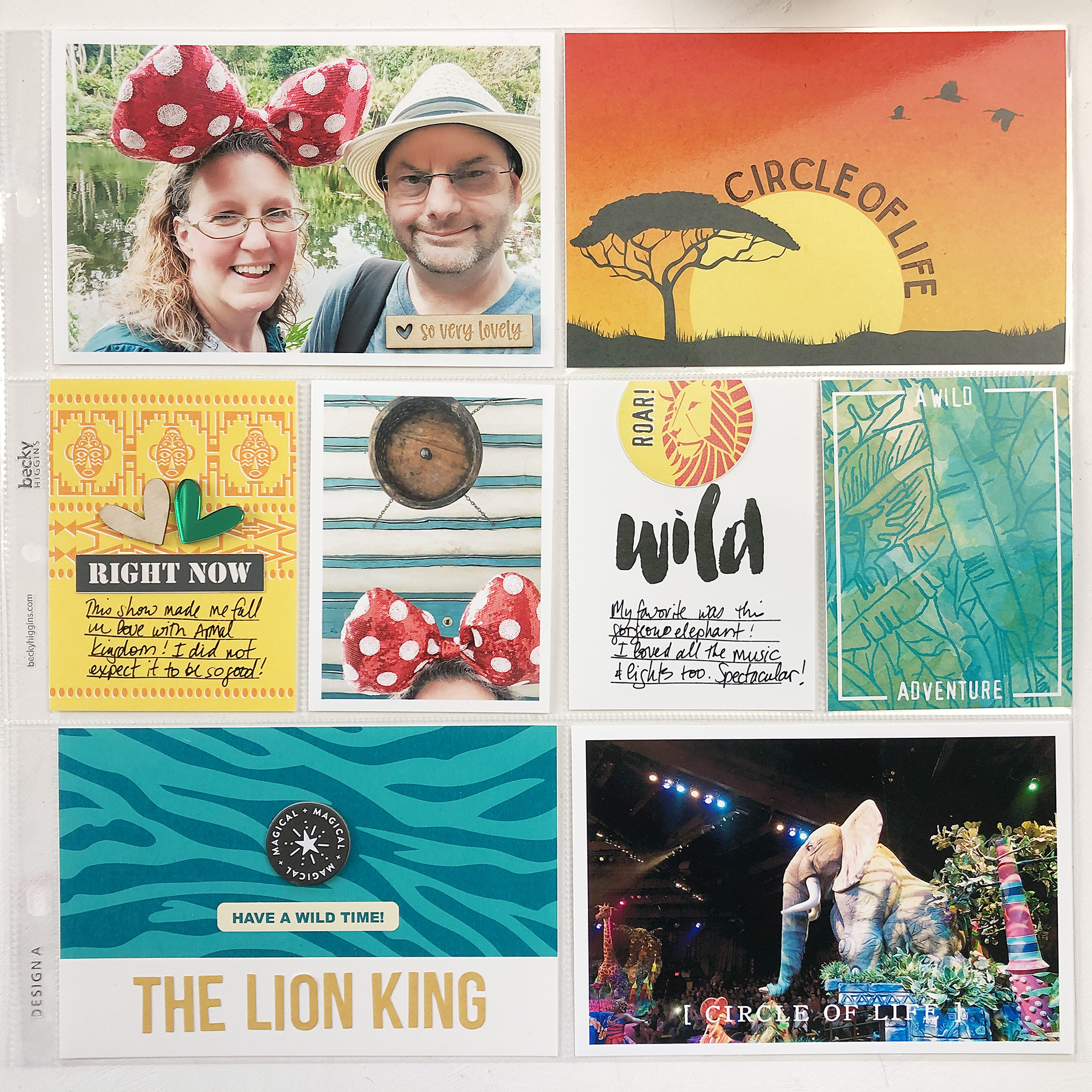 Larkindesign Disney 2020 Album | Animal Kingdom Lion King | ft Project Mouse Animal