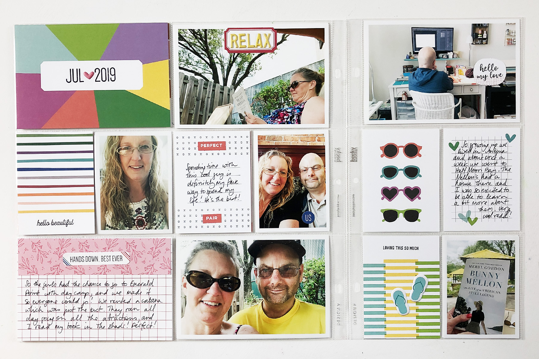 Larkindesign Project Life 2019 July Monthly ft Elle's Studio