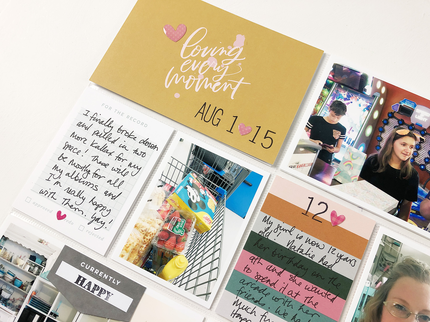 Larkindesign Project Life 2019 | August Bi Monthly | ft Studio Calico