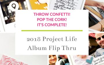 Larkindesign Project Life 2019 Full Album Flip Through