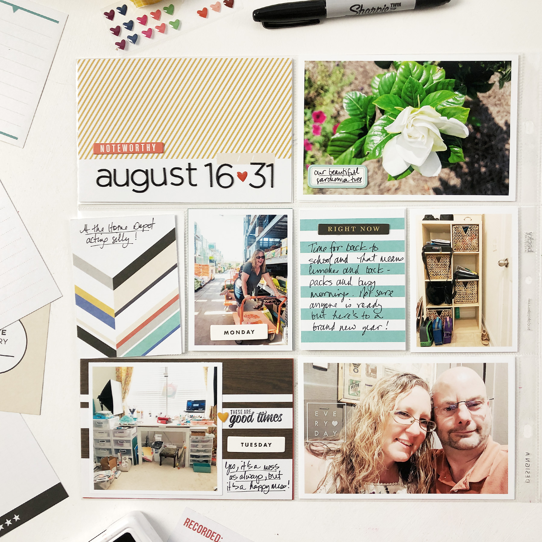 Larkindesign Project Life 2019 | August Bi Monthly No 02 ft Project Life Stories