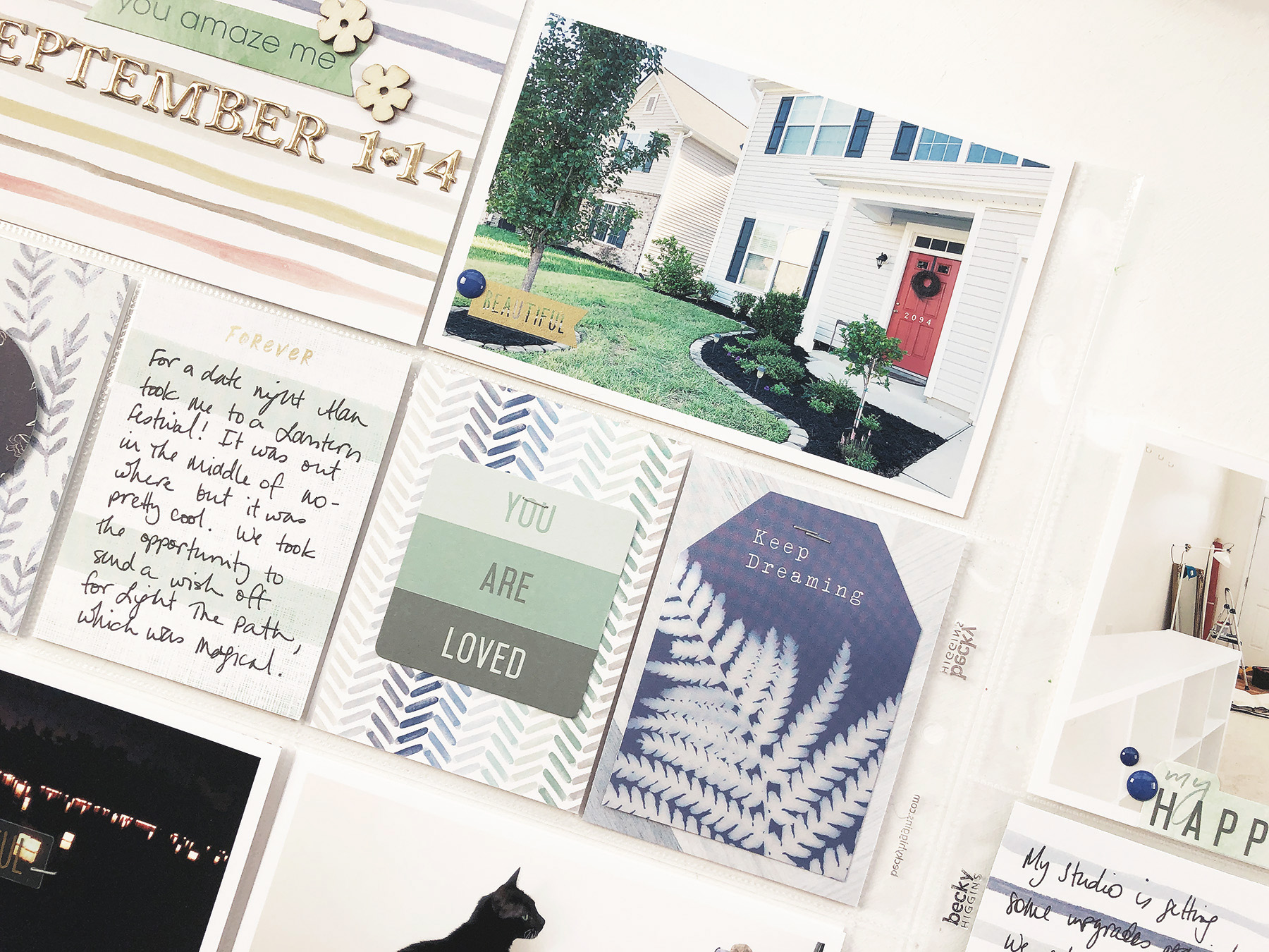 Larkindesign Using Tradition Products In Project Life 2019 | September Bi Monthly Layout 01