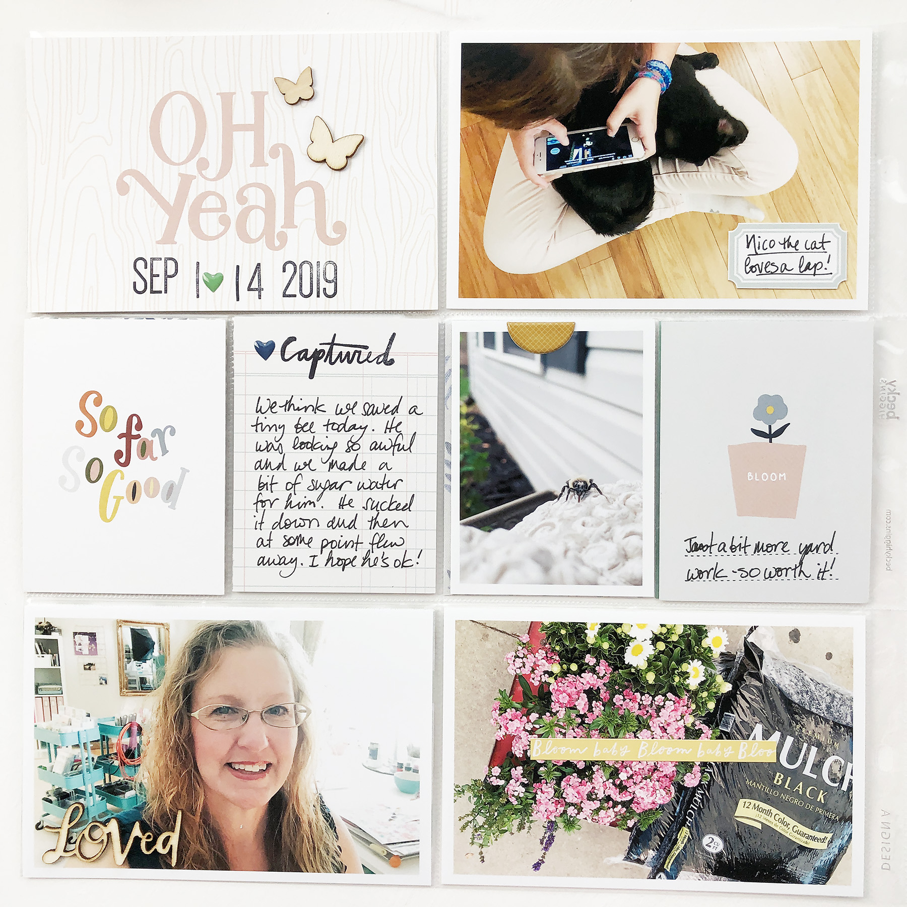 Larkindesign Project Life 2019 | September Bi Monthly Layout 02 ft Studio Calico