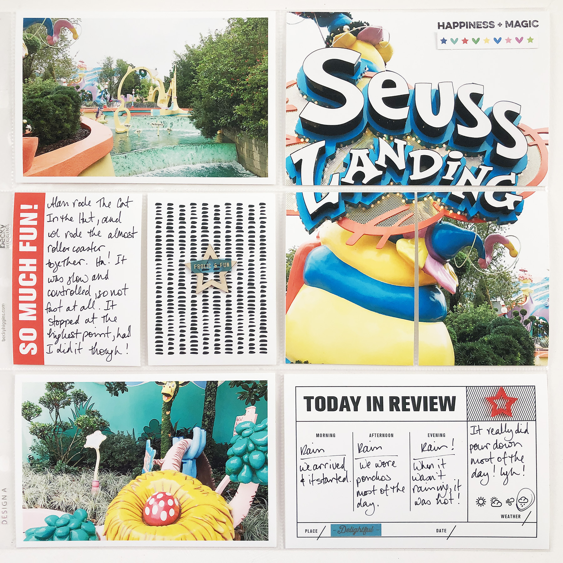 Larkindesign Disney 2020 Scrapbook Album | Documenting Universal | Seuss Landing