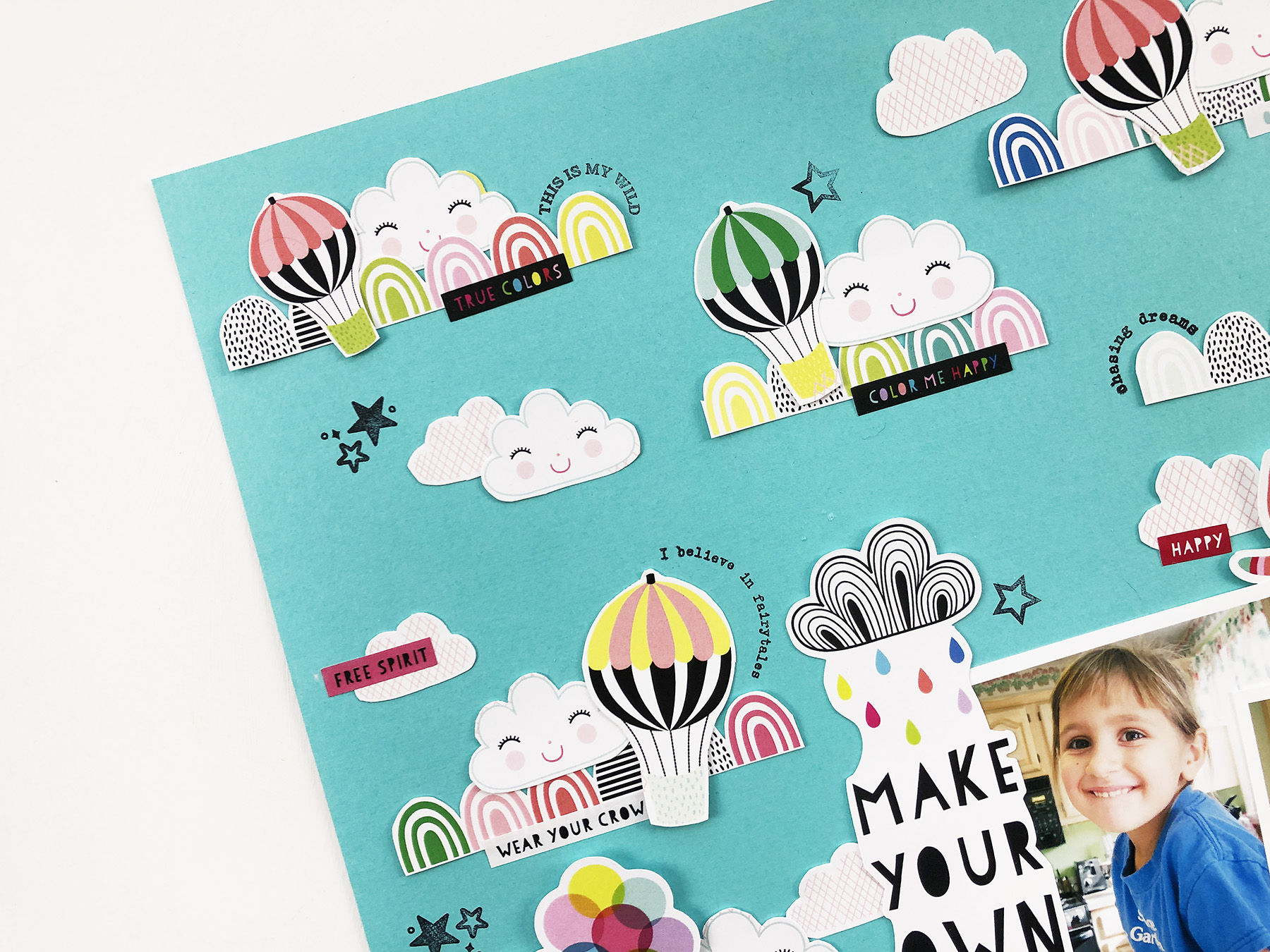 Larkindesign Kids Scrapbook Album Project | Natalie Edition Make Your Own Rainbow