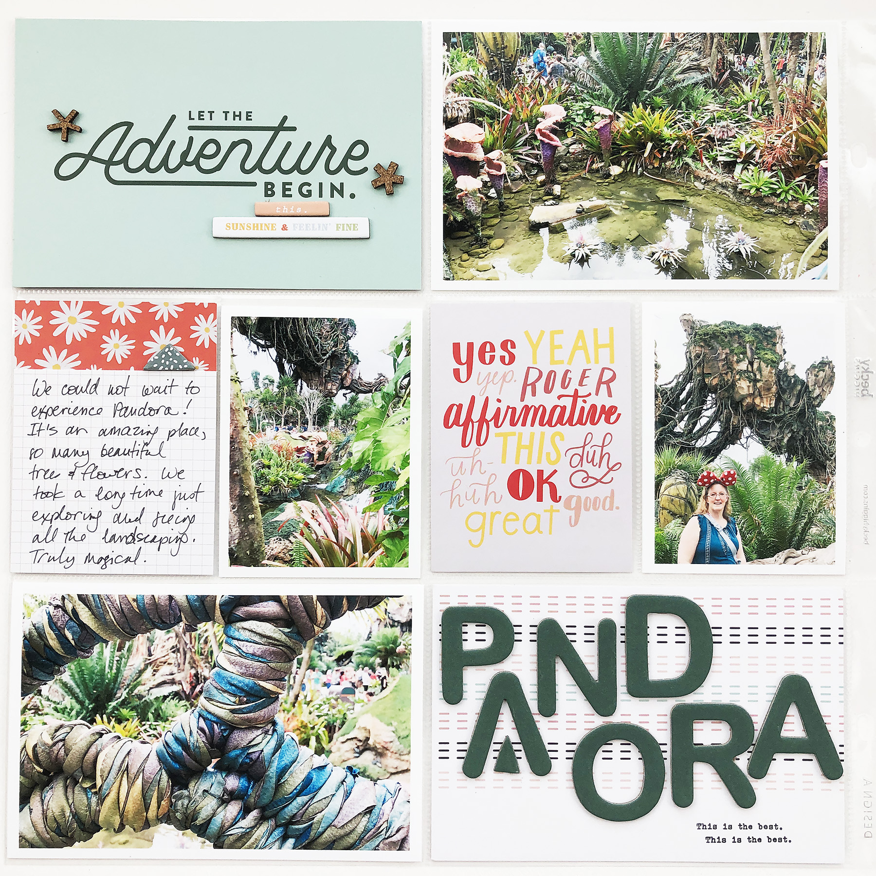 Disney 2020 Scrapbook Album | Documenting Pandora & Na'vi River Journey