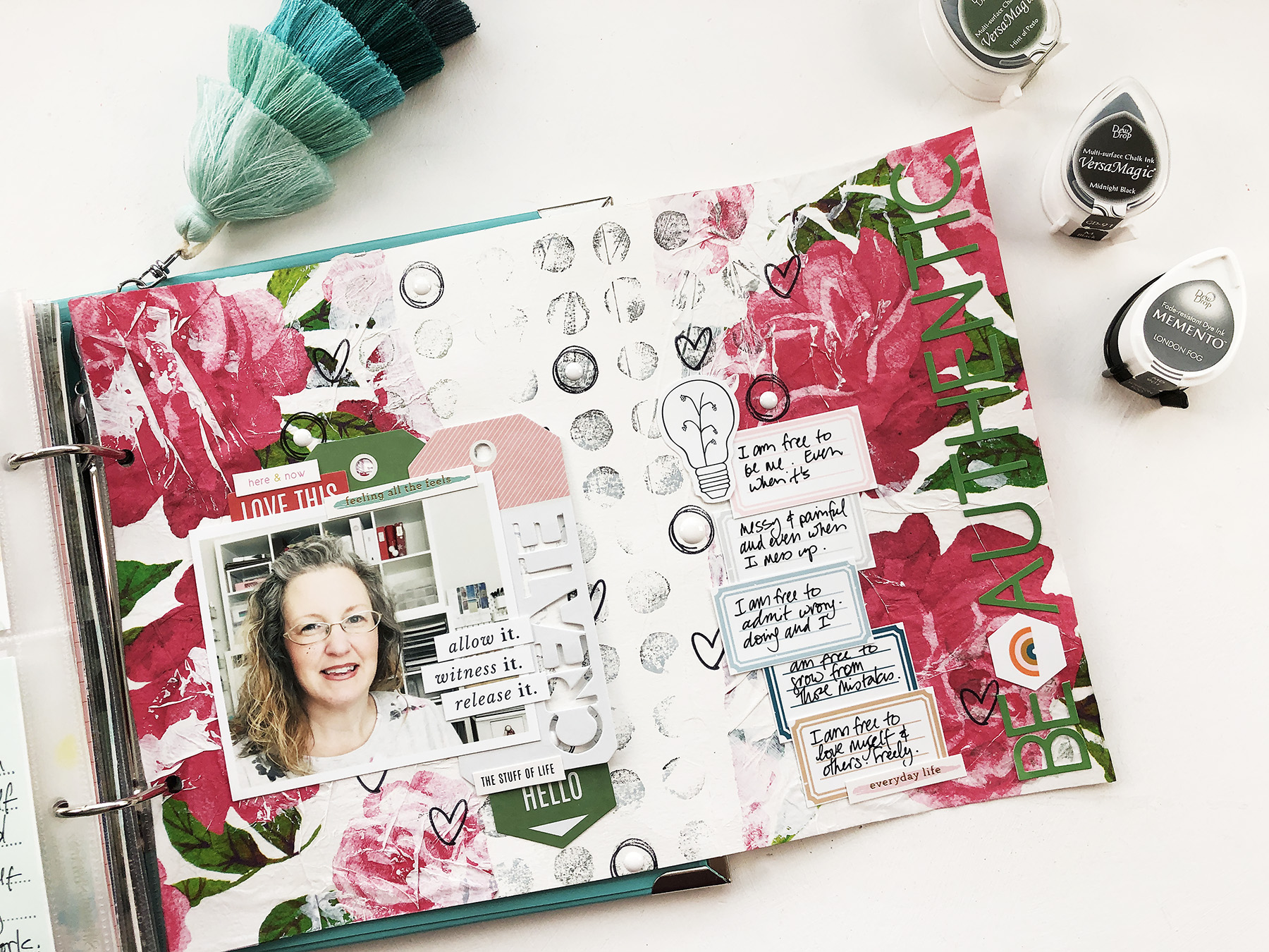 Light The Path - June 2020 Art Journal Layout