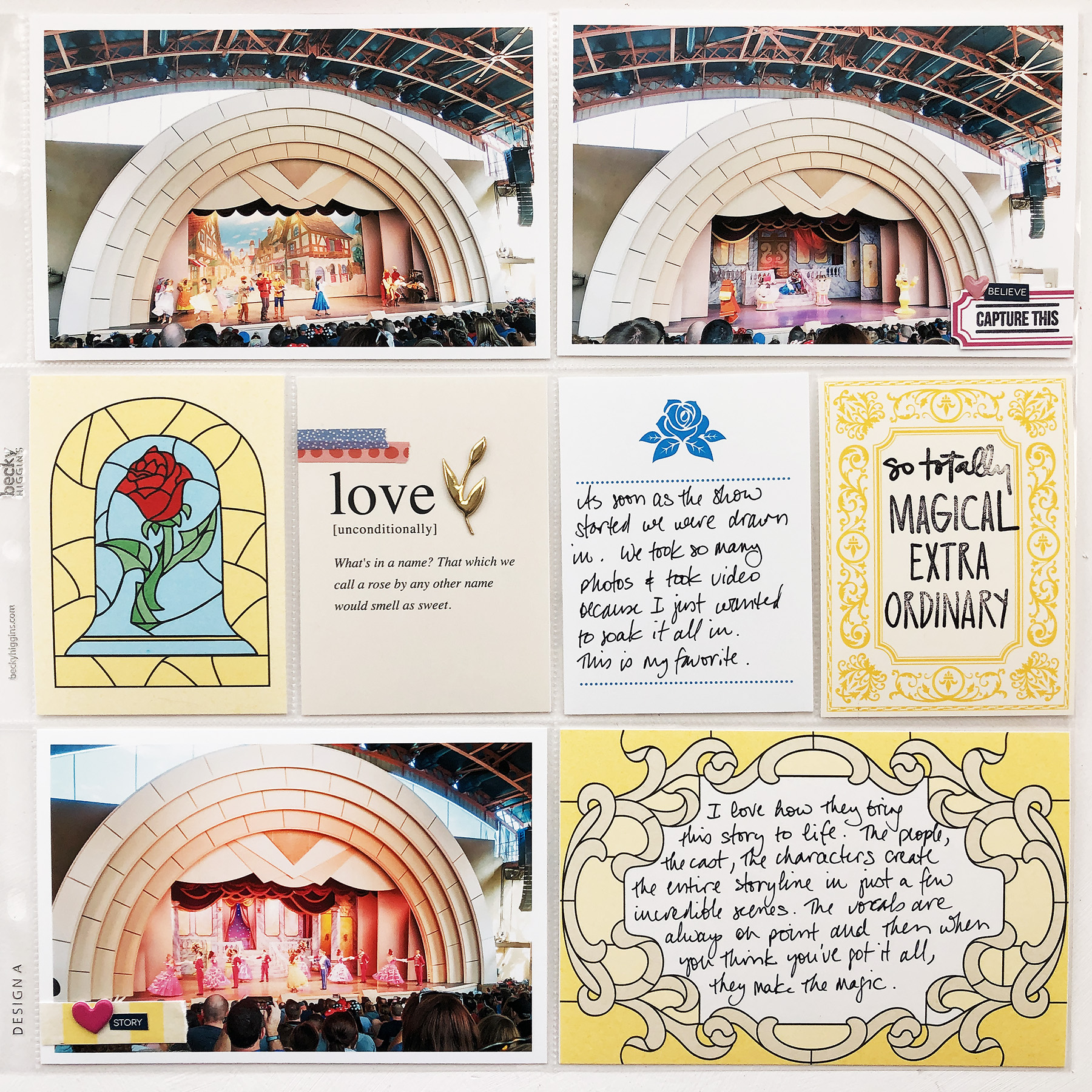 Larkindesign Disney 2020 Scrapbook Album | Documenting Hollywood Studio Beauty and the Beast