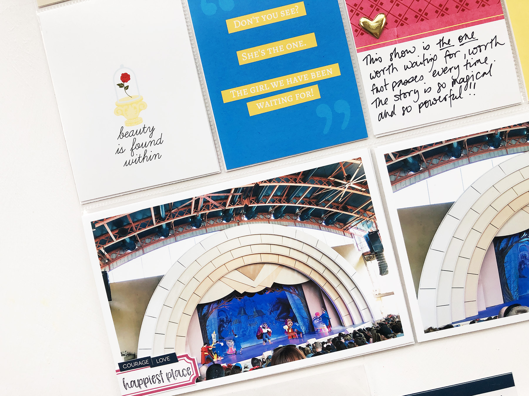 Larkindesign Disney 2020 Scrapbook Album | Documenting Hollywood Studio Beauty and the Beast