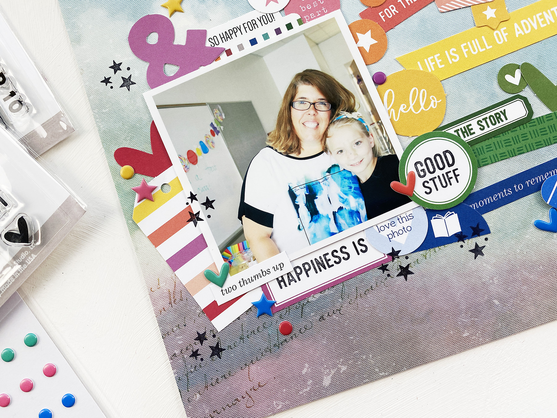 Larkindesign Scrapbook Your Kids | Embelynn's Last Day of 4th Grade