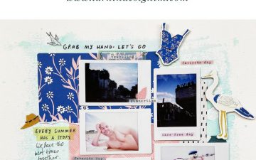 Mixed Media Scrapbook Layout | Life Is Lovely