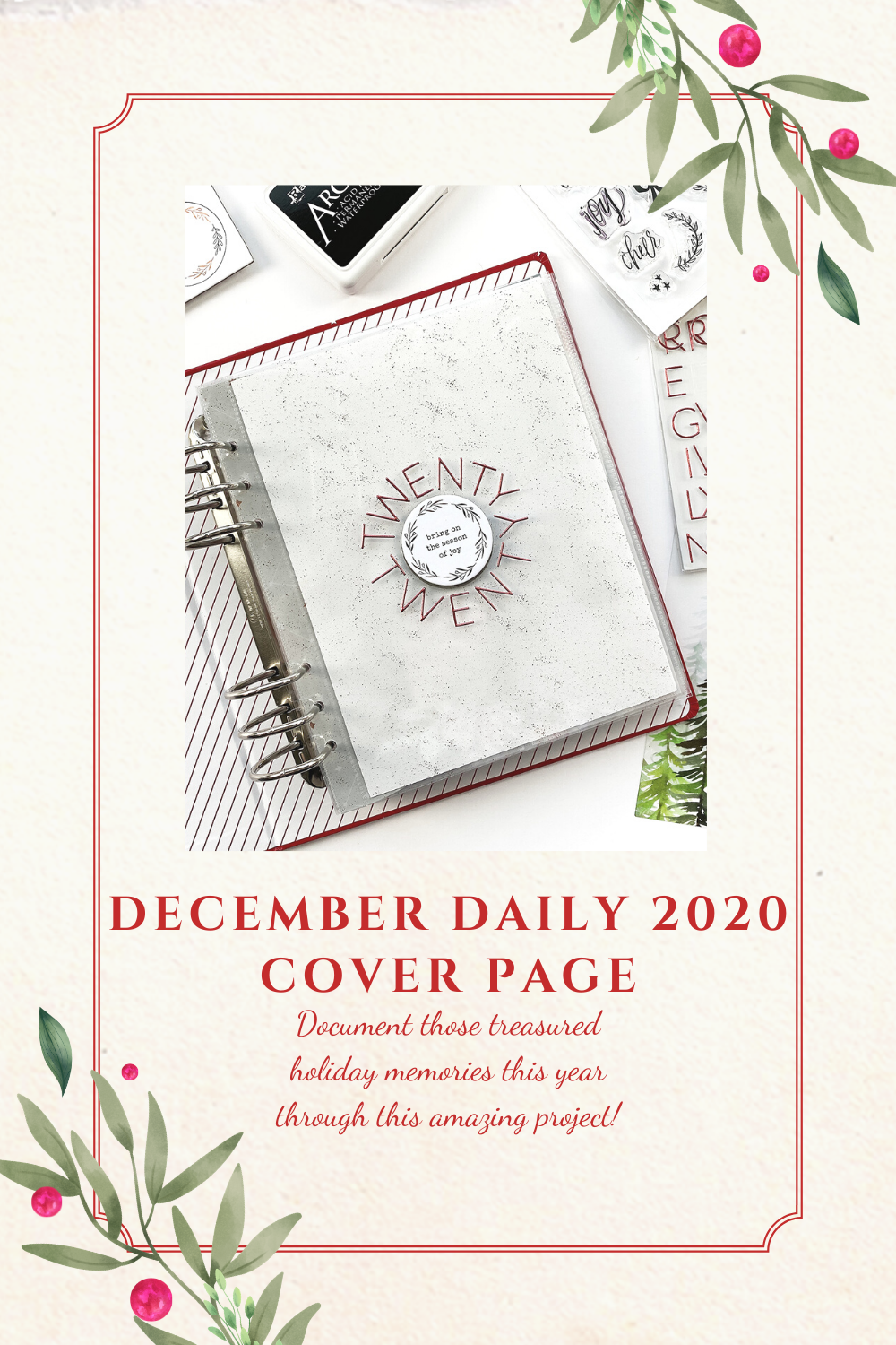 Theresa Moxley December Daily 2020 Foundation Pages Cover Page